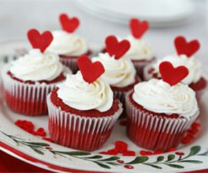 cupcake, red, and sweet image
