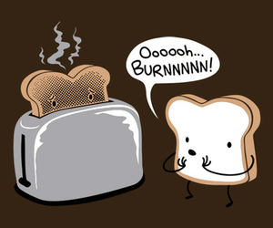 funny, toast, and burn image