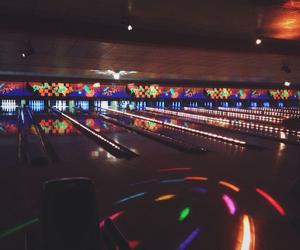 black light, bowling, and dark image