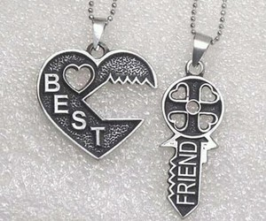 best friends, friends, and heart image