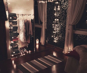bedroom, candles, and decor image