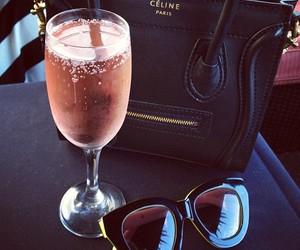 celine, bag, and sunglasses image