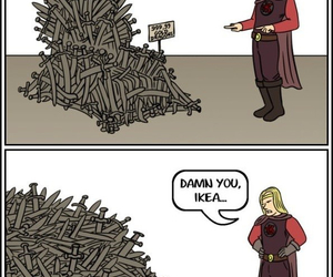ikea, game of thrones, and funny image