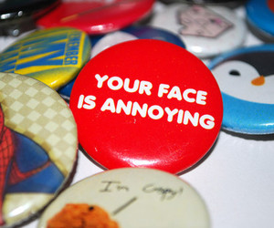 annoying, face, and buttons image