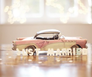 just married, deco, and wedding image