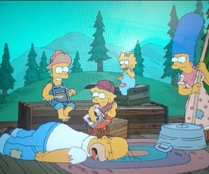 bart, homer, and marge image