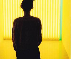 girl, yellow, and light image