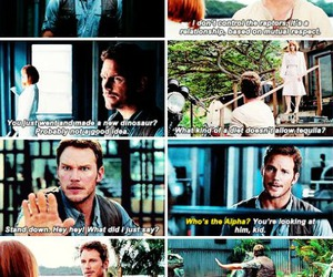 movie, chris pratt, and jurassic world image