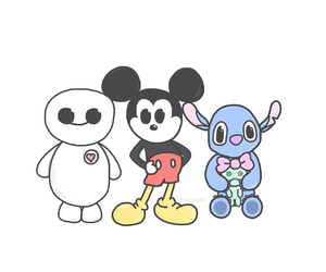 mickey mouse, stitch, and tumblr image