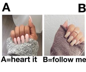 nails, follow, and like image
