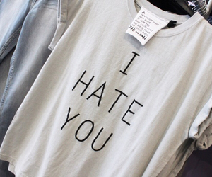 hate, clothes, and white image