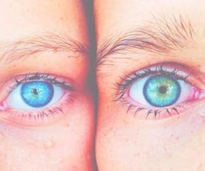eyes, blue, and beautiful image