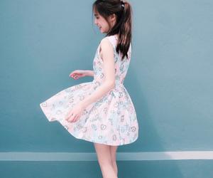 asian fashion, kfashion, and floral print dress image