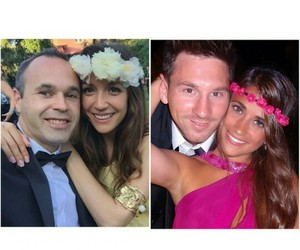 weddings, lionel messi, and andres iniesta image