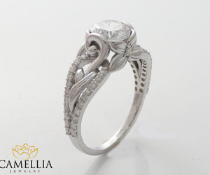 engagement, ring, and unique image