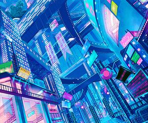 Anime futuristic city