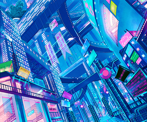 anime, art, and city image