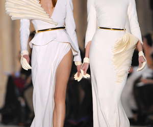 catwalk, Couture, and robe image