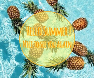 summer, hello, and pineapple image