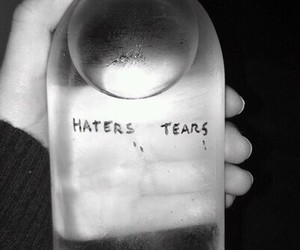grunge, tears, and haters image