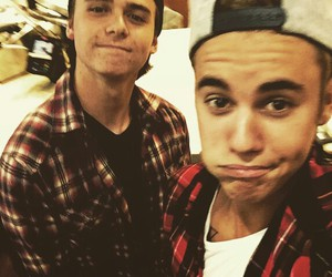 justin bieber, christian beadles, and justin image