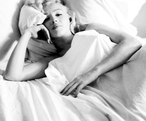 black and white, Marilyn Monroe, and photography image