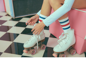 beautiful, roller skates, and fashion image