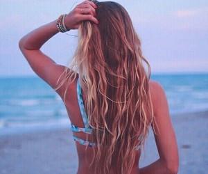 beach, hair, and summer image