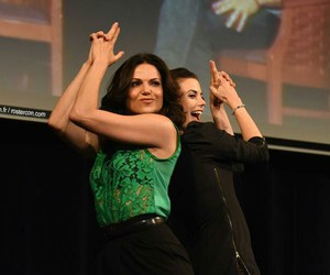 lana parrilla, once upon a time, and meghan ory image