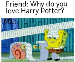 harry potter, funny, and spongebob image