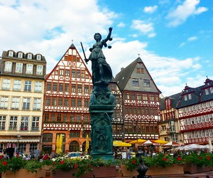 buildings, colorful, and frankfurt image