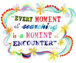 moment and text image