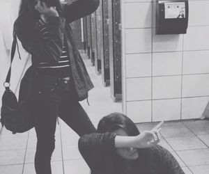 friends, grunge, and black and white image