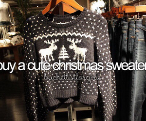 christmas, sweater, and bucket list image