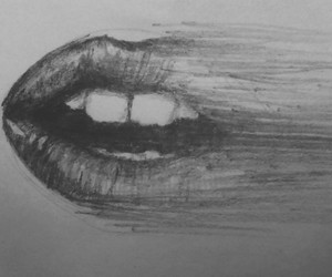 drawing, lips, and mouth image