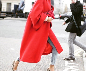 fashion, red, and coat image