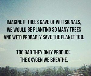 planet, quote, and trees image