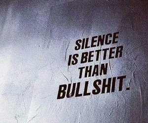 silence, bullshit, and quotes image