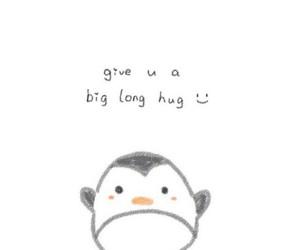 hug, penguin, and wallpaper image