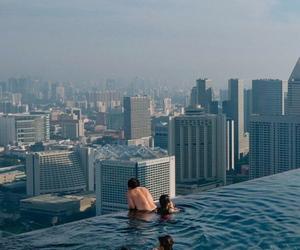 city, grunge, and pool image