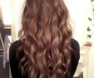 brunet, curly, and hair image