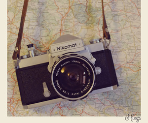 camera, nikon, and retro image