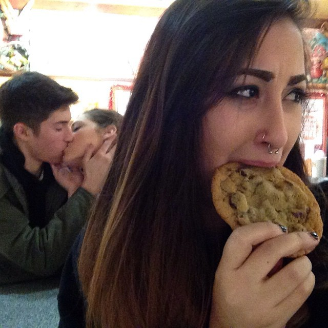 couple, funny, and cookie image