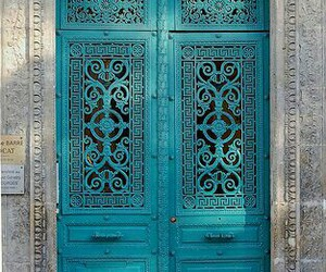 door and turquoise image