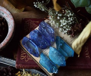 crystal, girl, and stone image
