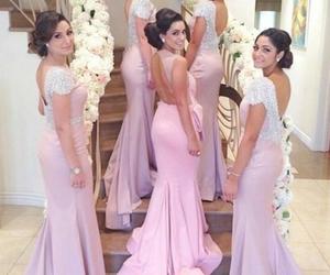 bridesmaid dress, bridesmaid dresses, and pink bridesmaid dresses image