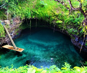 nature, water, and paradise image