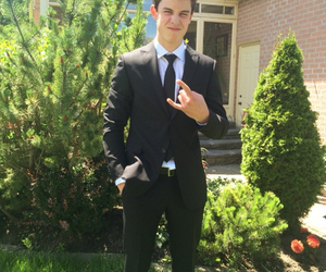 hot guys, in suits, and Prom image