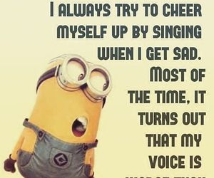 funny, minions, and singing image