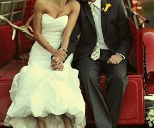 couple, wedding, and sweet image